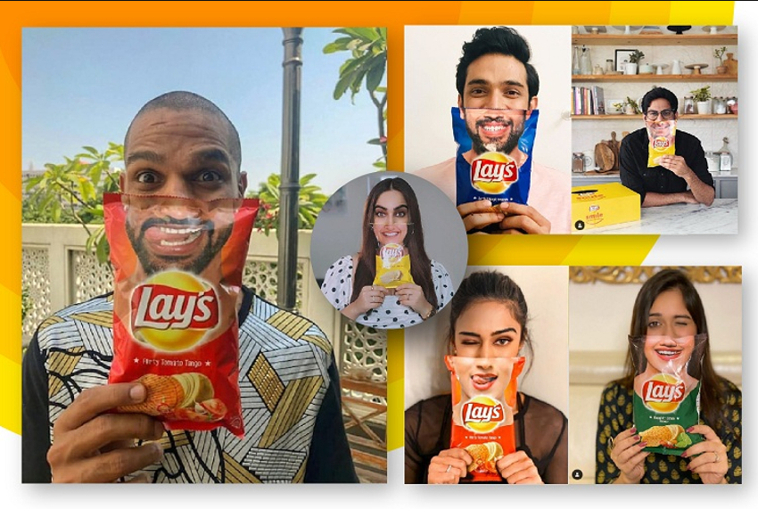 Instagram smiling with influencers campaign
