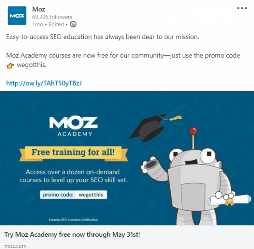 MOZ Free Courses